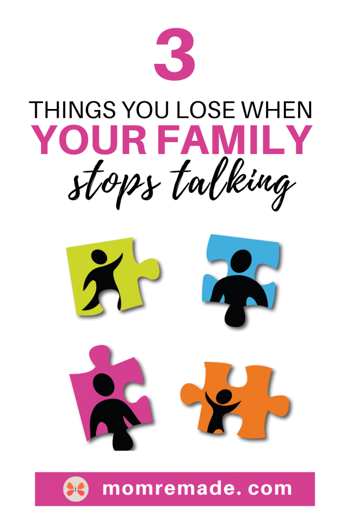 Puzzles pieces with pictures of family on them. Estranged: 3 Things You Lose When Your Family Stops Talking
