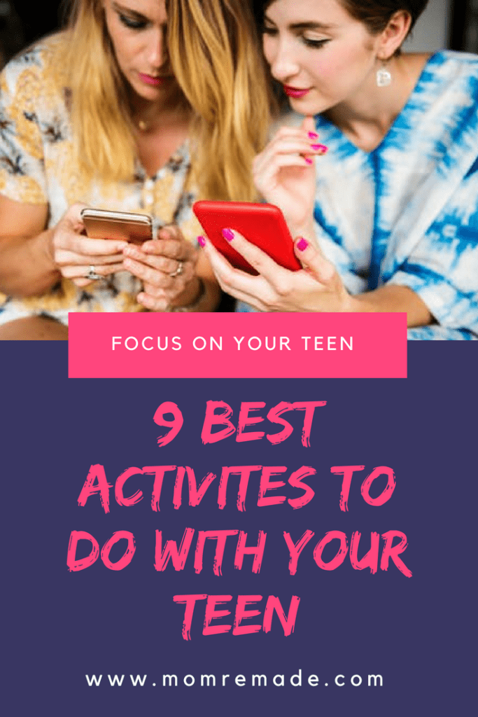 9 Best Activities to Do with Your Teen. Are you and your teen drifting apart? Start with some fun activities and then add in some meaningful things like volunteering together. #teenactivities #familytime #family #familymoments #teentime #teens #familytimecounts #dinnertime
