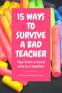 how to deal with a bad teacher