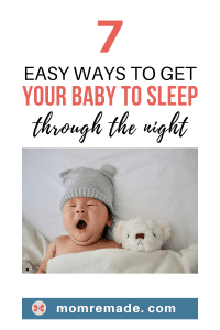 tips for getting a baby to sleep through the night
