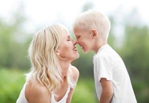 Mom and son rubbing noses. How to Pray For Your KIds in Your War Room