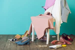 Messy clothes hanging on a chair. 11 Revealing Clues You Are a Hot Mess Mom